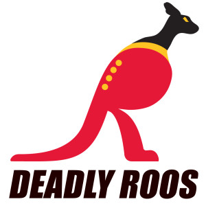 Deadly Roos AFL footy logo