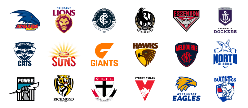 AFL club logos