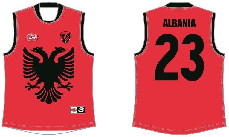 Albania footy jumper AFL
