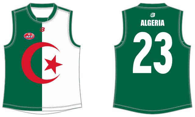 Algeria footy jumper AFL