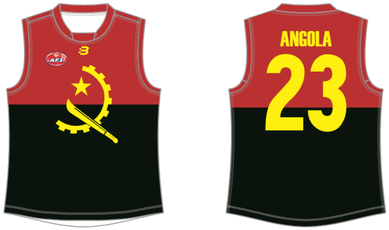 Angola footy jumper AFL