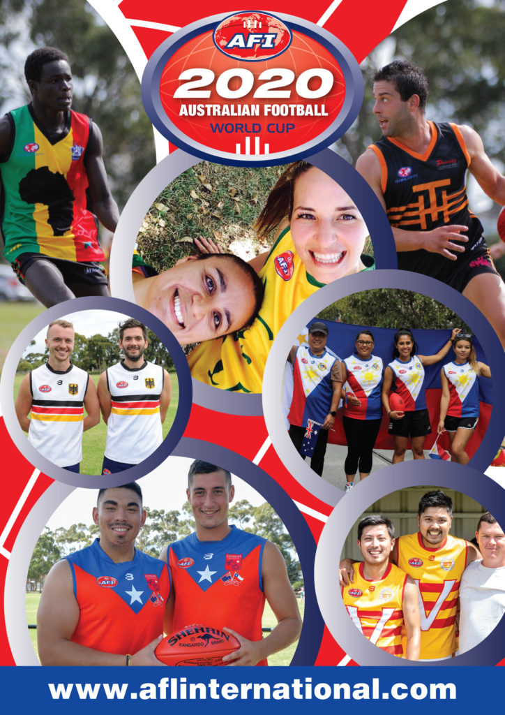 Australian Football World Cup flyer