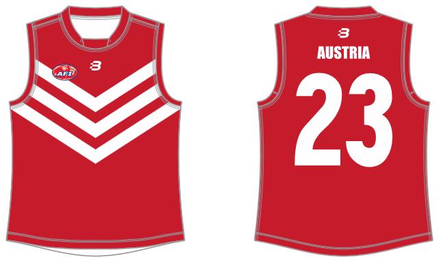 Austria footy jumper AFL