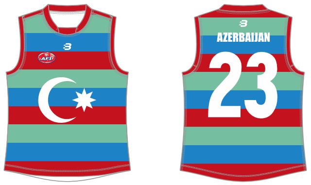 Azerbaijan AFL foty jumper