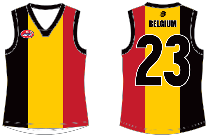 Belgium footy jumper AFL