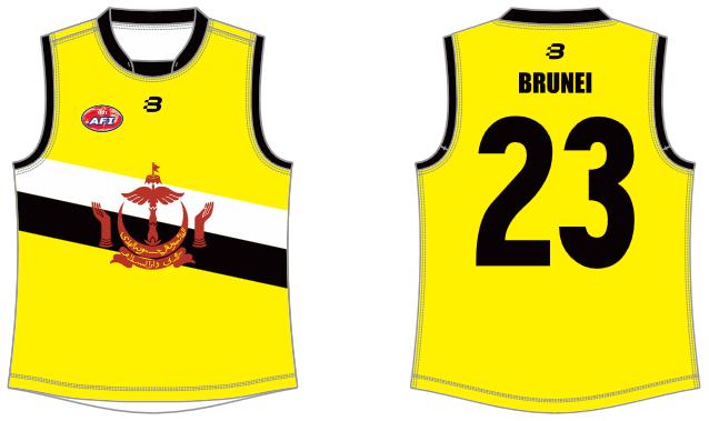 Brunei AFL footy jumper