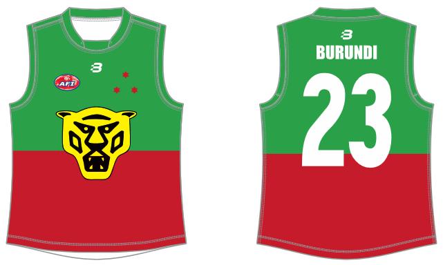 Burundi AFL footy jumper