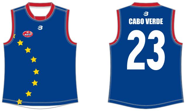 Cabo Verde AFL footy jumper