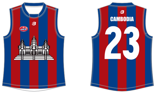 Cambodia AFL footy jumper