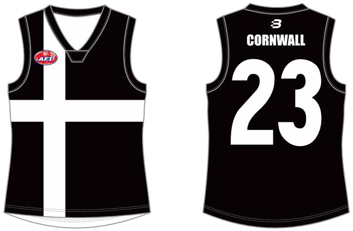 Cornwall footy jumper AFL