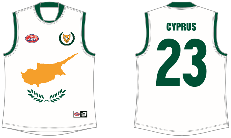 Cyprus footy jumper AFL
