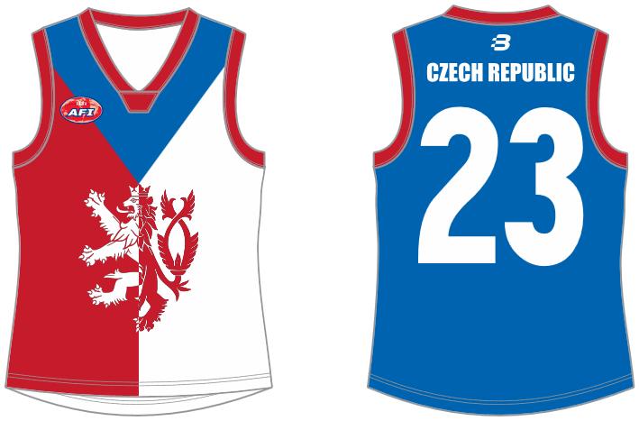 Czech Republic footy jumper AFL