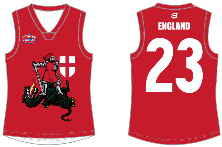 England footy jumper AFL