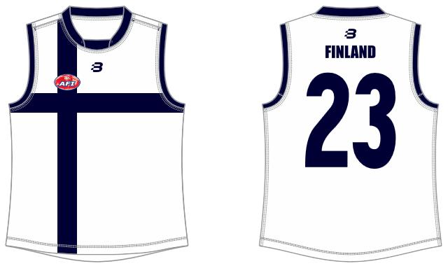 Finland footy jumper AFL