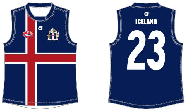 Iceland footy jumper AFL