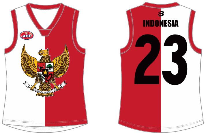 Indonesia AFL footy jumper