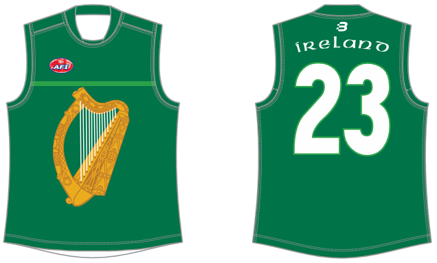 Team Ireland AFL footy