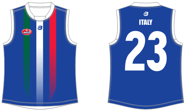 Italy footy jumper AFL