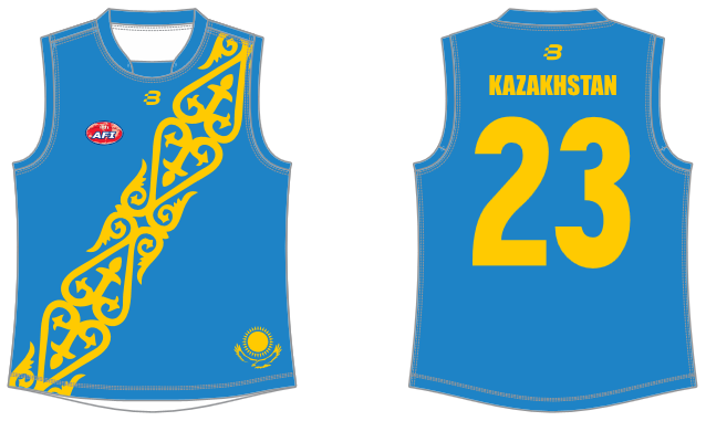 Kazakhstan AFL footy jumper