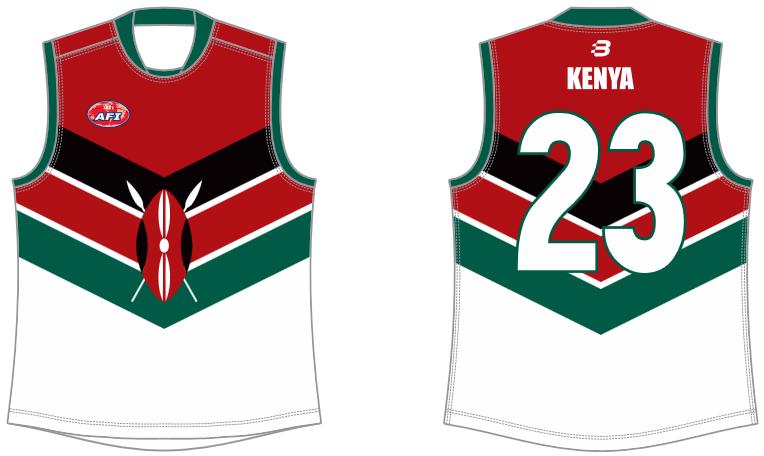 Kenya AFL footy jumper