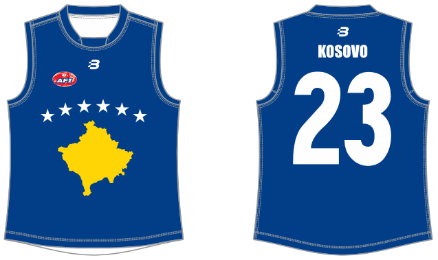 Kosovo footy jumper AFL