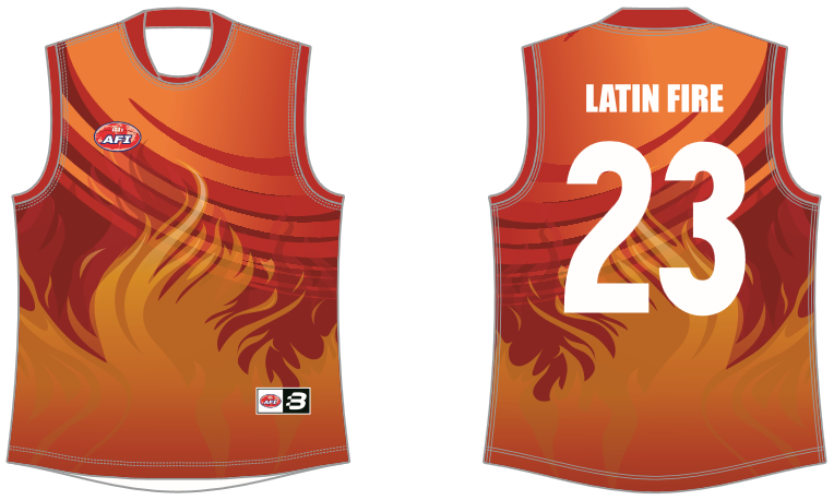 Latin America AFL footy jumper