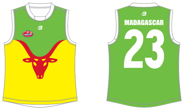 Madagascar AFL footy jumper