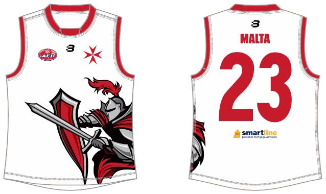 Malta footy jumper AFL