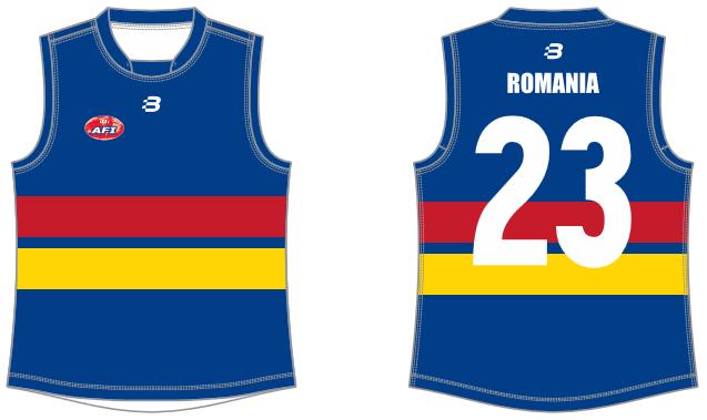 Romania footy jumper AFL