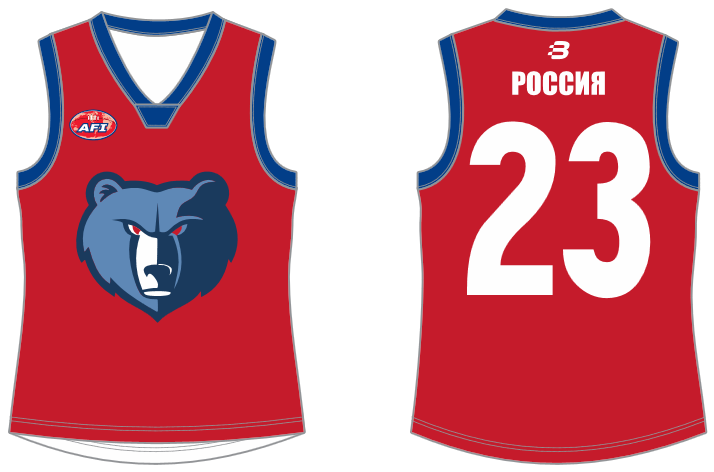 Russia footy jumper AFL