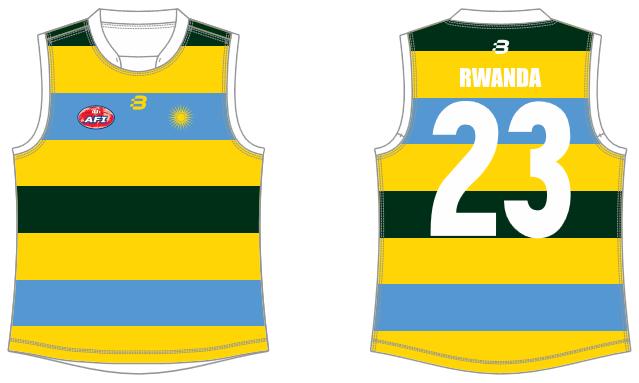 Rwanda AFL footy jumper