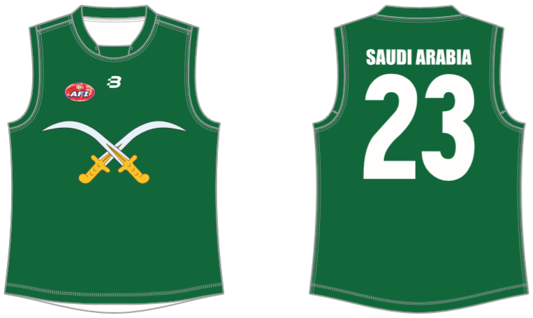 Saudi Arabia footy jumper AFL