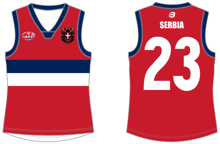 Serbia footy jumper AFL