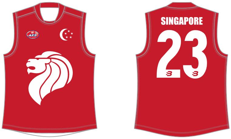 Singapore AFL footy jumper