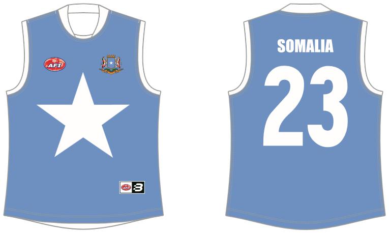 Somalia AFL footy jumper
