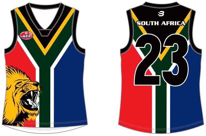 South Africa full AFL jumper