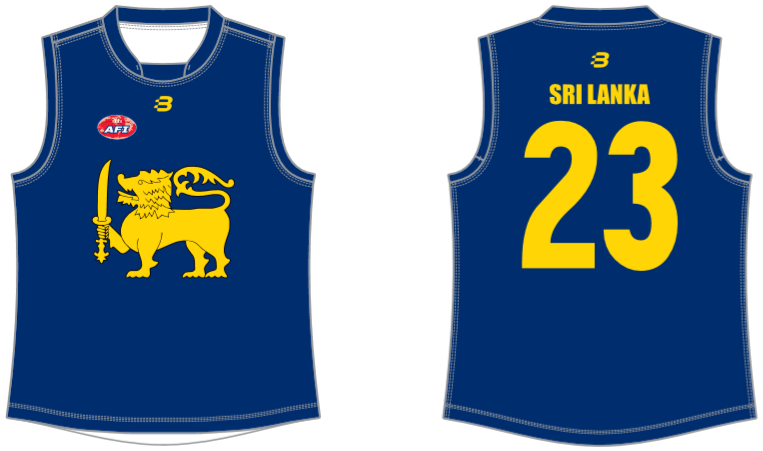 Sri Lanka AFL footy jumper