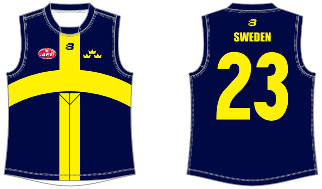 Swedish Vikings AFL footy jumper