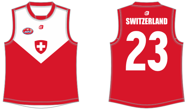 Switzerland footy jumper AFL