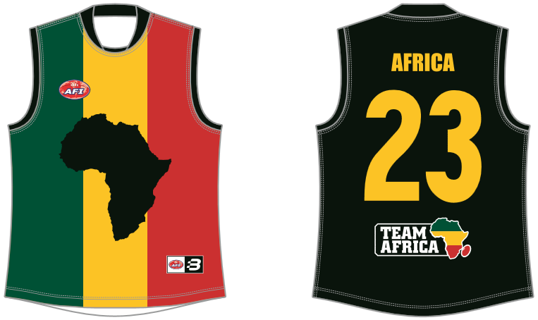 Team Africa footy jumper AFL