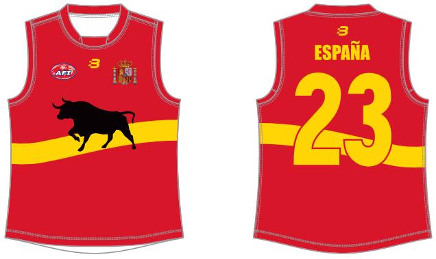 Spain footy jumper AFL