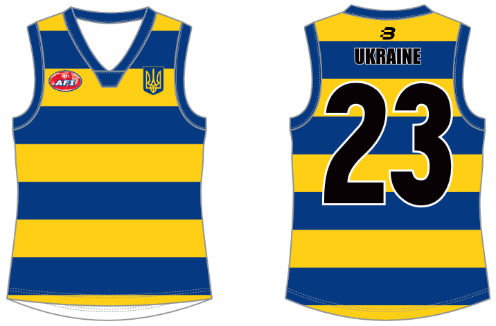 Ukraine footy jumper AFL