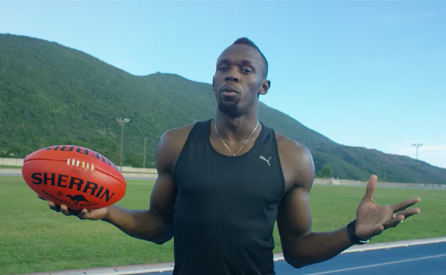 Usain Bolt AFL footy