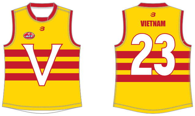 Vietnam AFL footy jumper