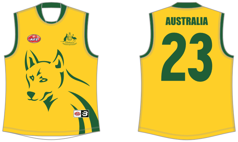 Australian Dingoes footy jumper AFL