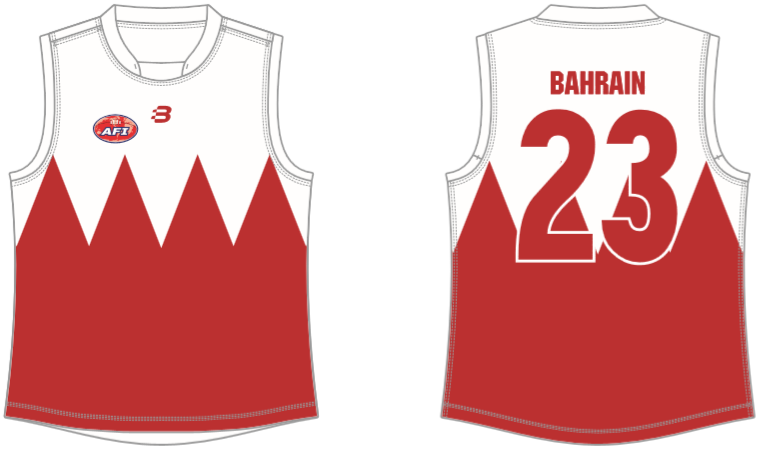 Bahrain footy jumper AFL
