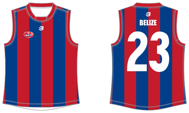 Belize footy jumper AFL