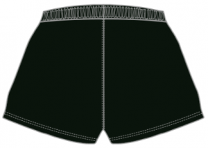 Black shorts back