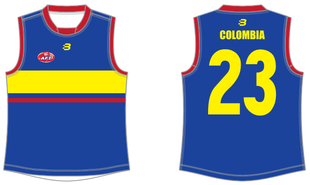 Colombia AFL footy jumper