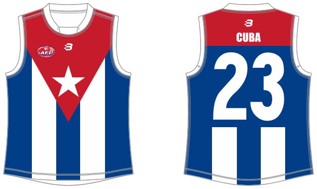 Cuba footy jumper AFL